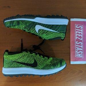 Nike Flyknit Racer G Women's Golf Shoes Green 7.5